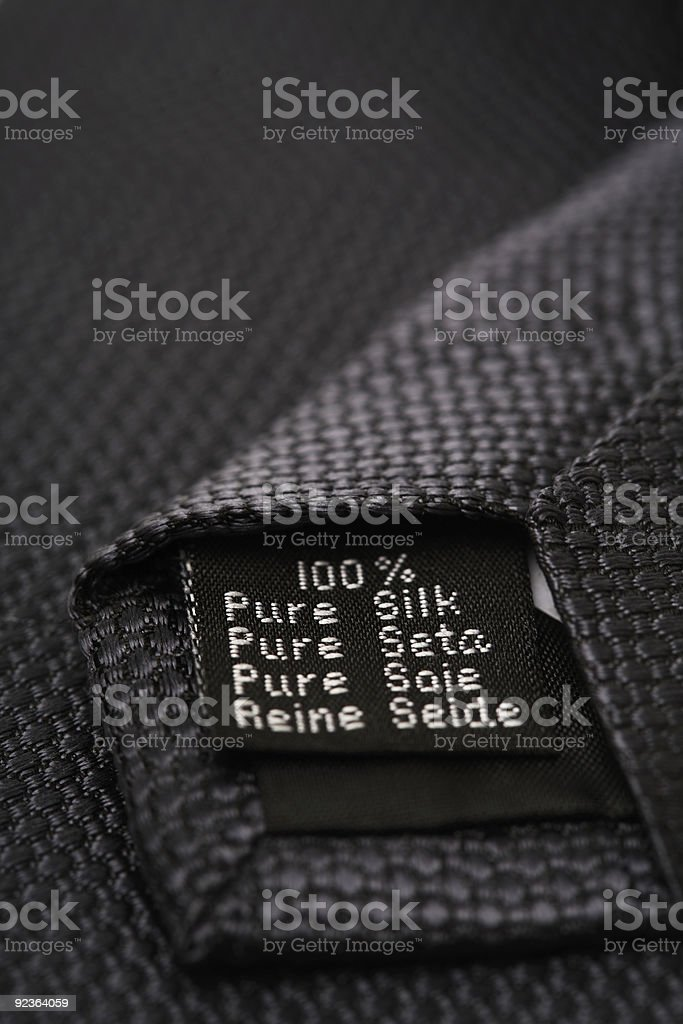 Tie, 100% pure silk royalty-free stock photo
