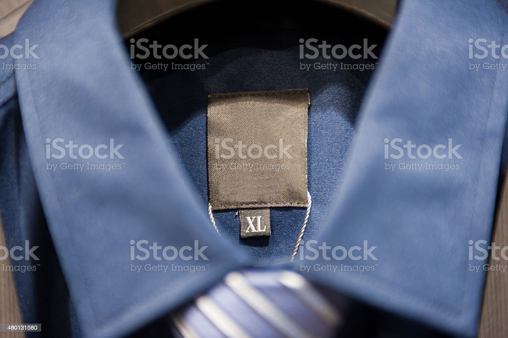 Tie and blue shirt stock photo