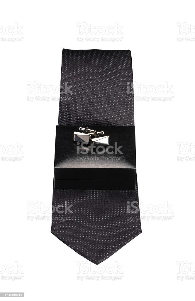 Tie And Cufflinks+Clipping Path (Click for more) royalty-free stock photo