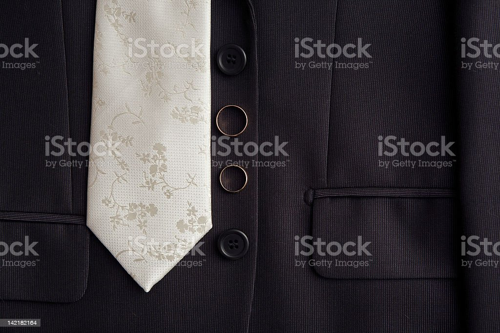 tie and rings stock photo