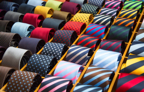 Tie collection stock photo