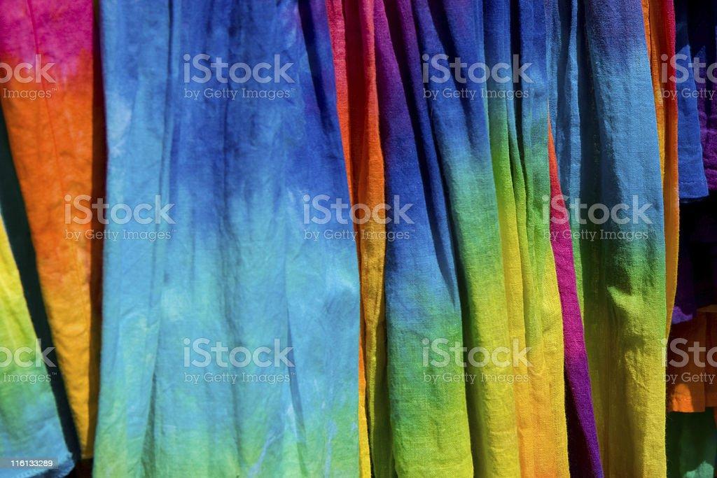 tie die shirts royalty-free stock photo