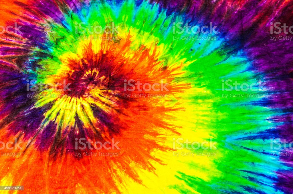 Tie Dye Concentric Design stock photo