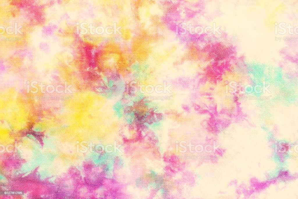 tie dye pattern on cotton fabric abstract background.