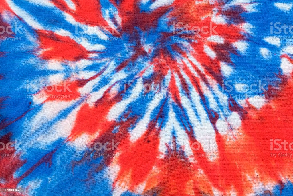 Tie Dye for Red, White and Blue Fourth of July stock photo