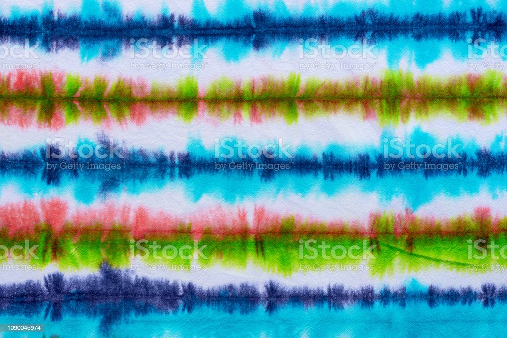 striped tie dye pattern hand dyed on cotton fabric abstract...