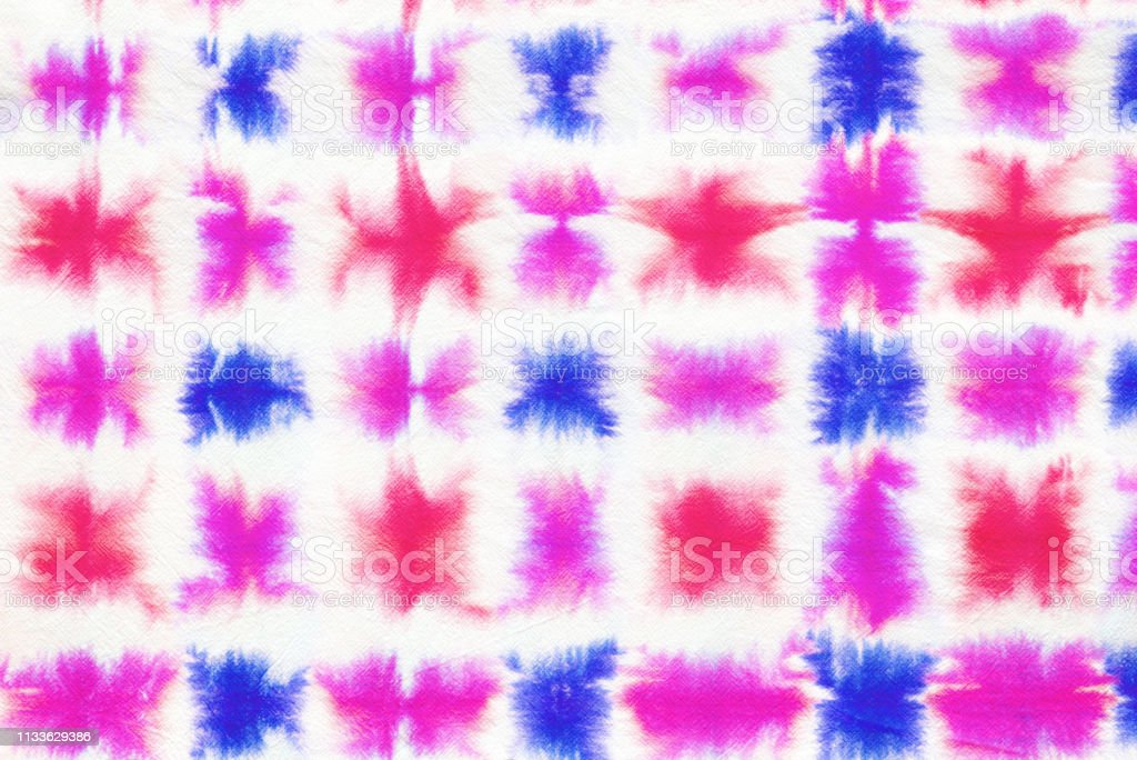 colorful tie dye pattern hand dyed on cotton fabric abstract...