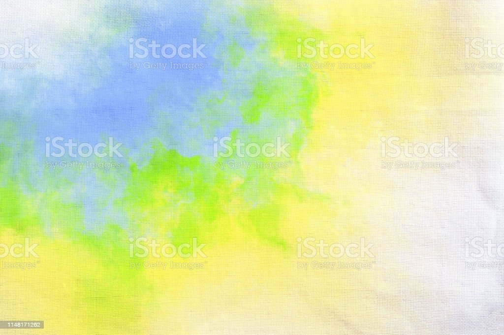 abstract tie dye pattern brushstrokes hand drawn on fabric texture...