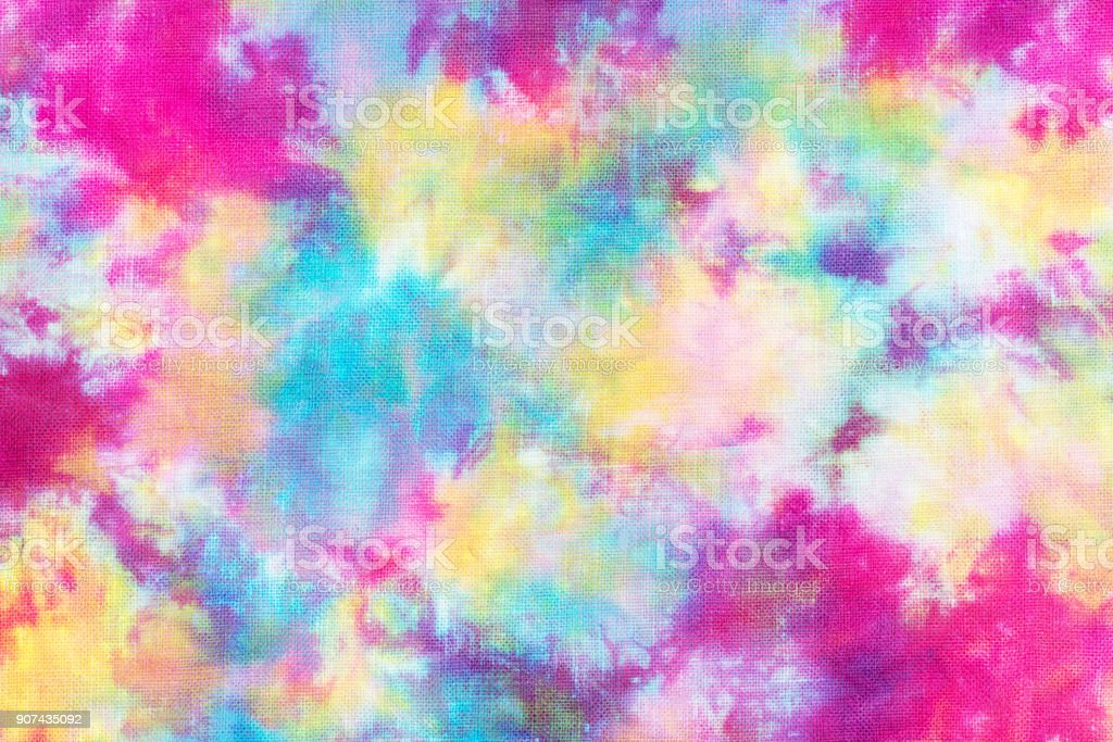 tie dye pattern hand dye on cotton fabric textures background.