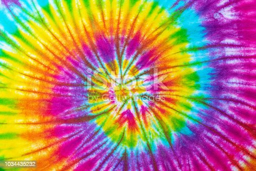 tie dye pattern hand dye om cotton fabric abstract background