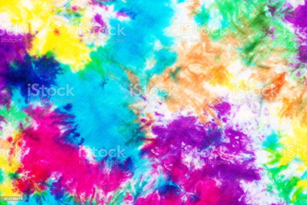 tie dye pattern hand dye on cotton fabric background.