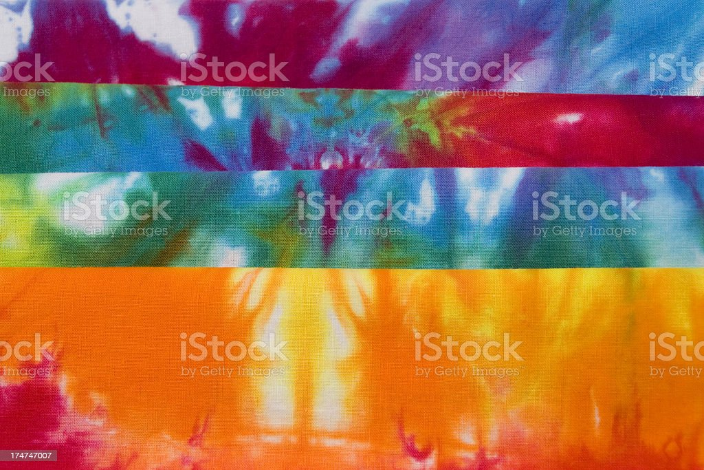 Tie Dye Stacked royalty-free stock photo