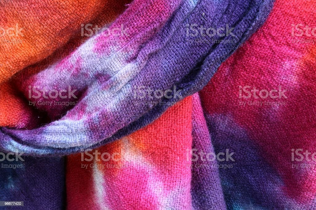 tie dye swag stock photo