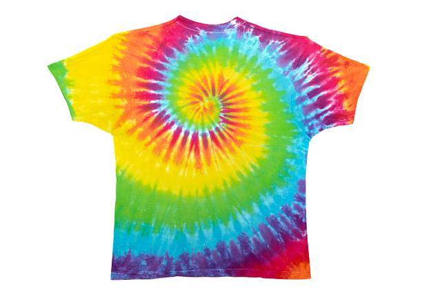 tie dye t-shirt stock photo