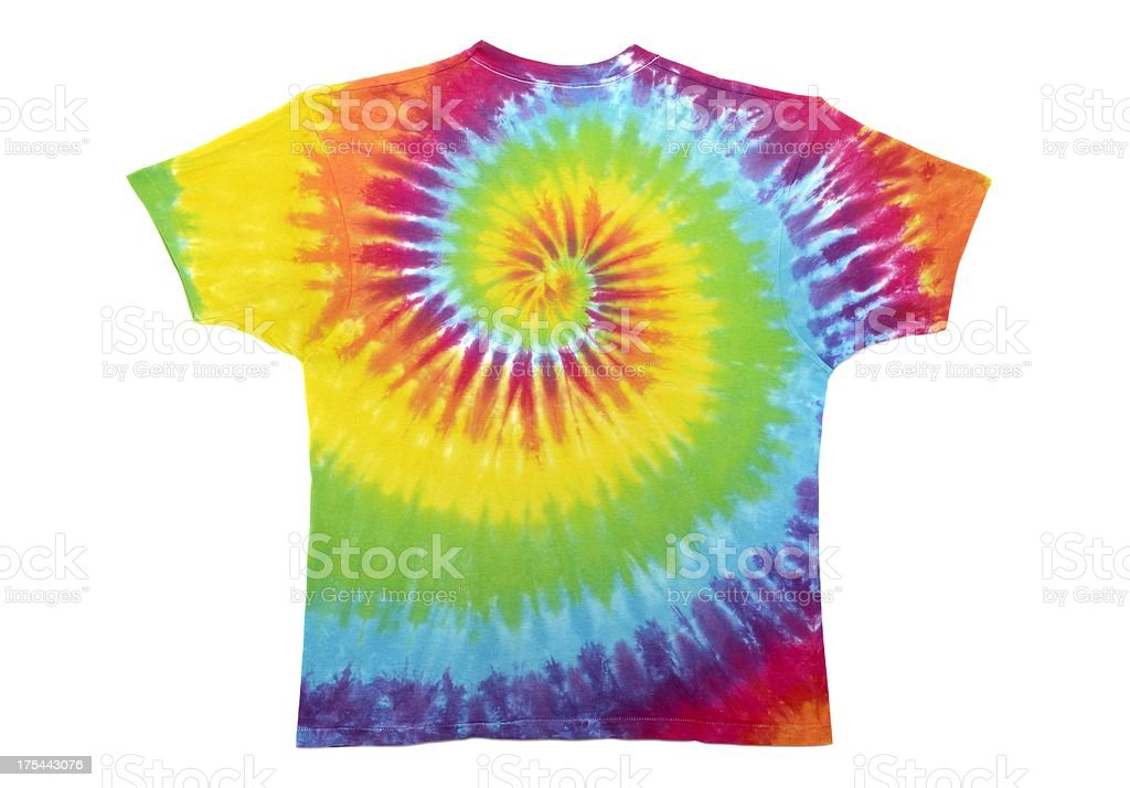 tie dye t-shirt stock photo