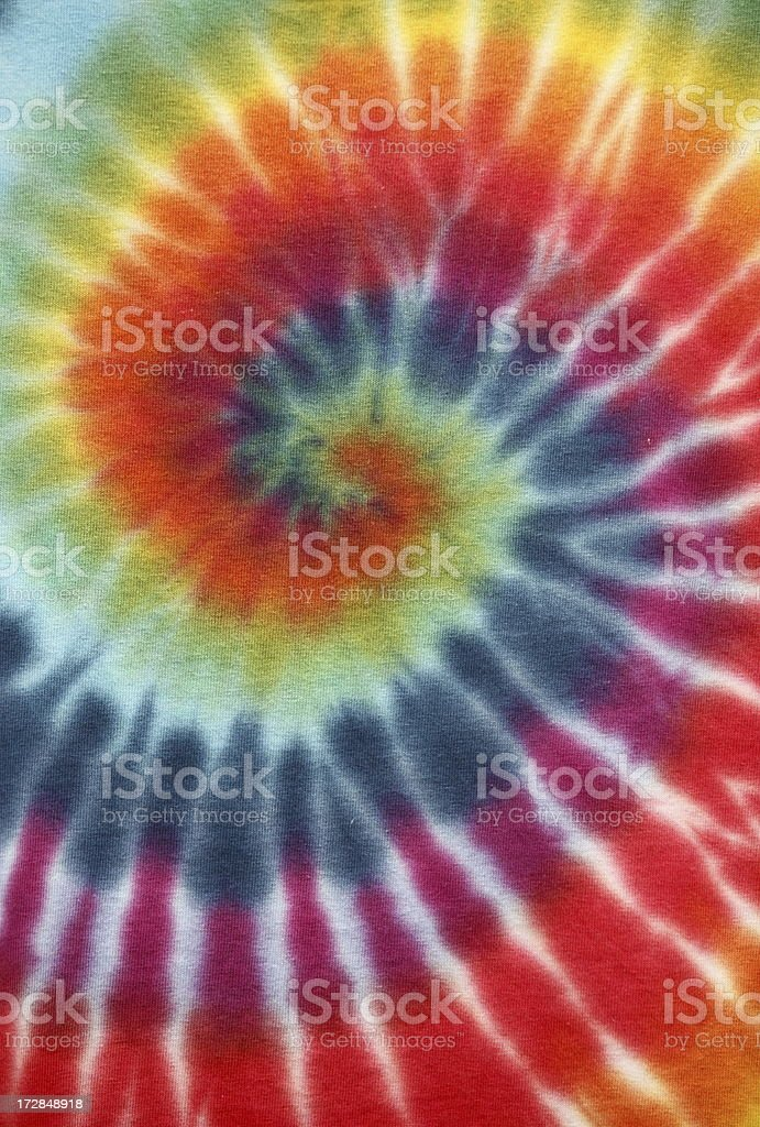 Tie Dyed Fabric stock photo