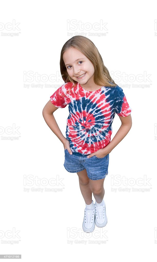 Tie Dyed Shirt royalty-free stock photo