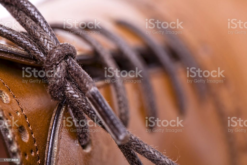 Tie great business up.-Brogue shoelace  detail royalty-free stock photo
