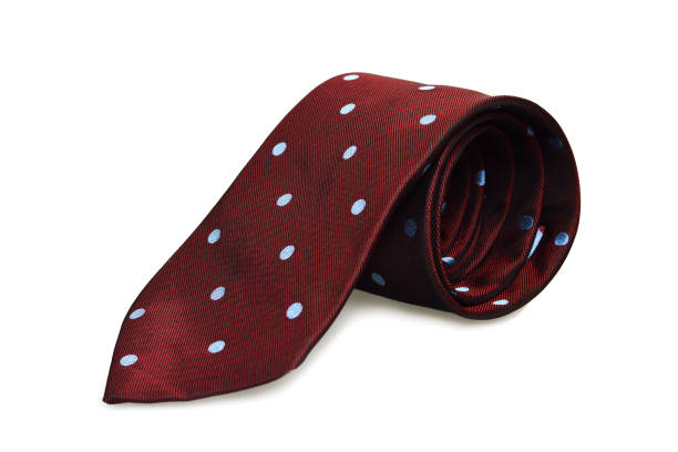 cravate isolé sur fond blanc - cravate photos et images de collection