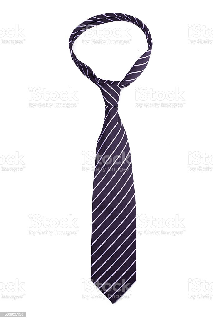 tie on a white background stock photo