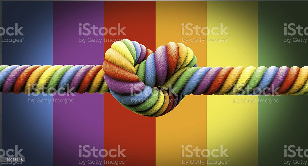 Tie The Knot Gay Marriage stock photo