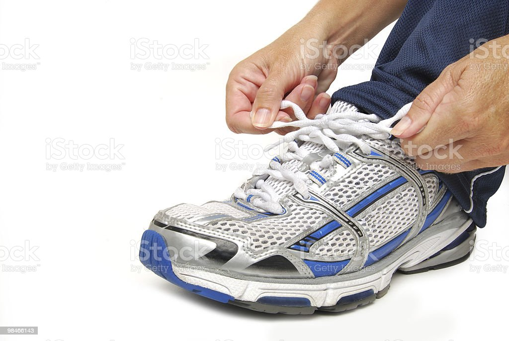 tie the shoe royalty-free stock photo