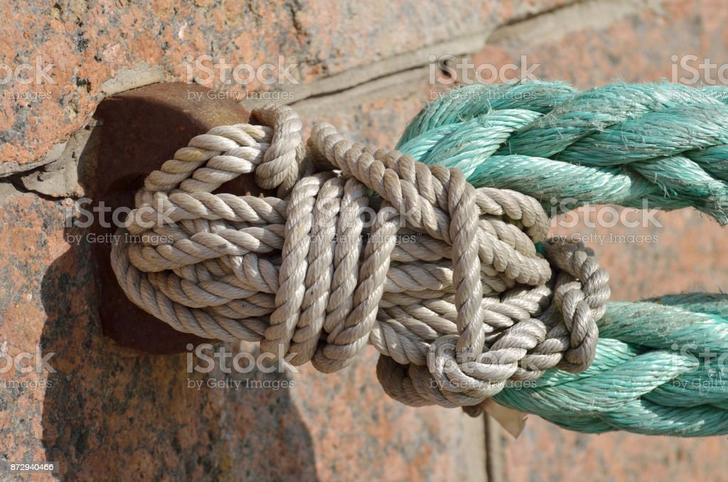Tied a strong knot. stock photo