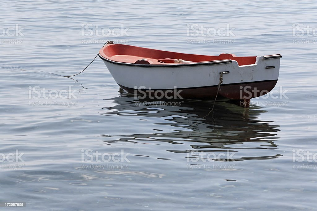 Tied boat stock photo