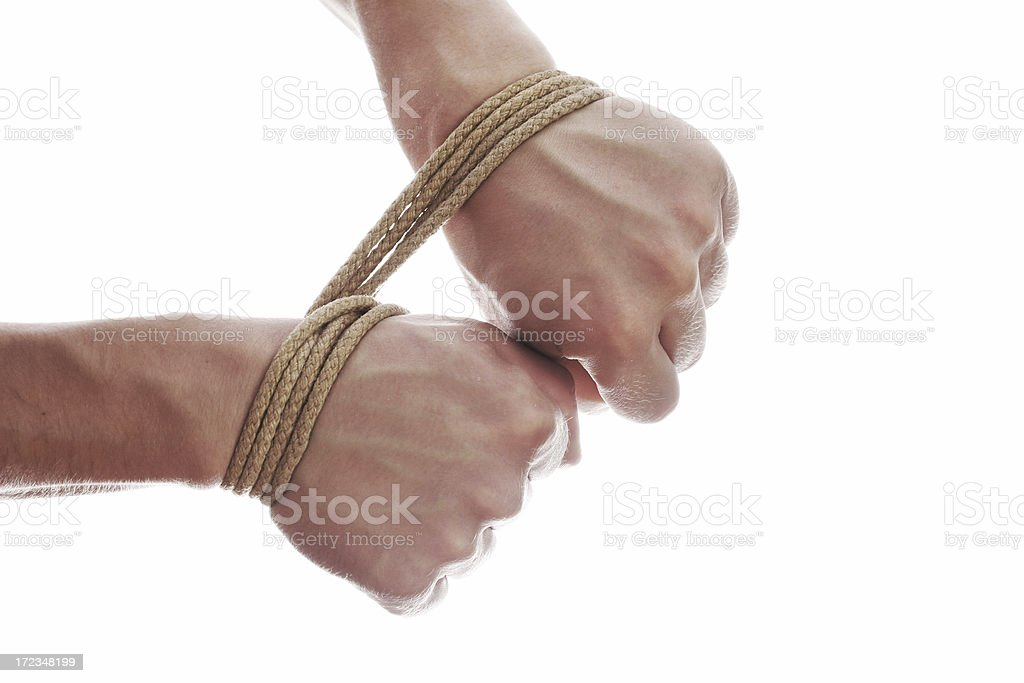 tied down royalty-free stock photo
