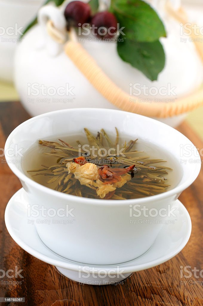 Tied green tea royalty-free stock photo