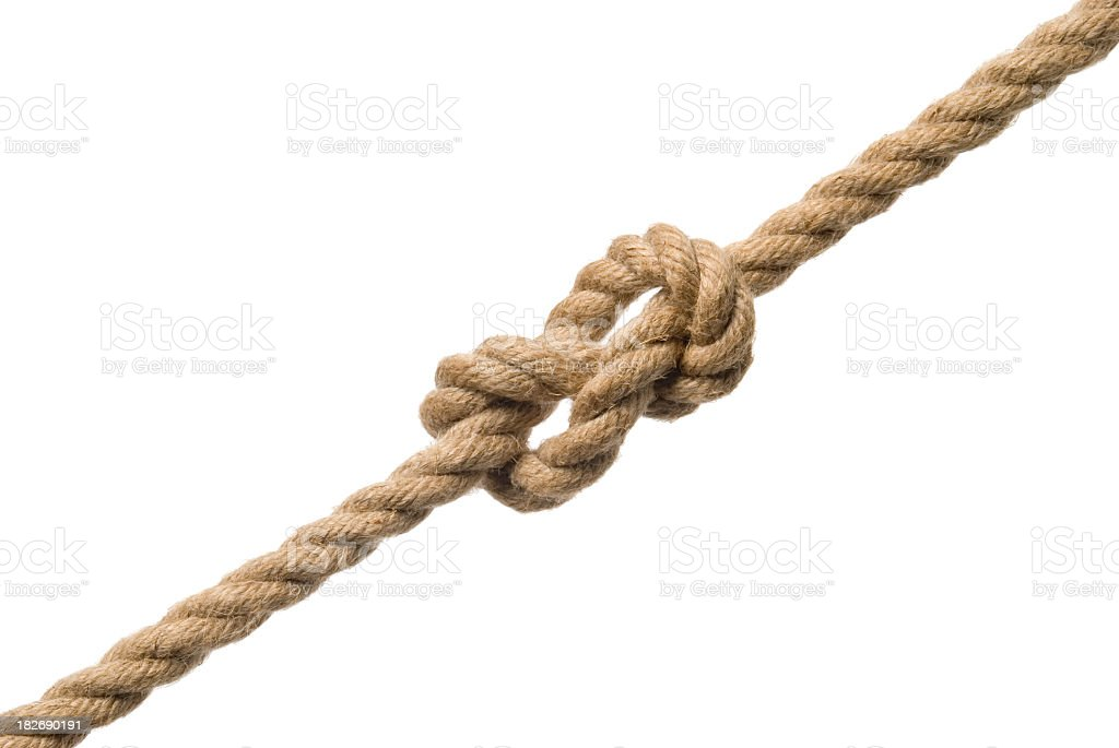 Tied knot royalty-free stock photo