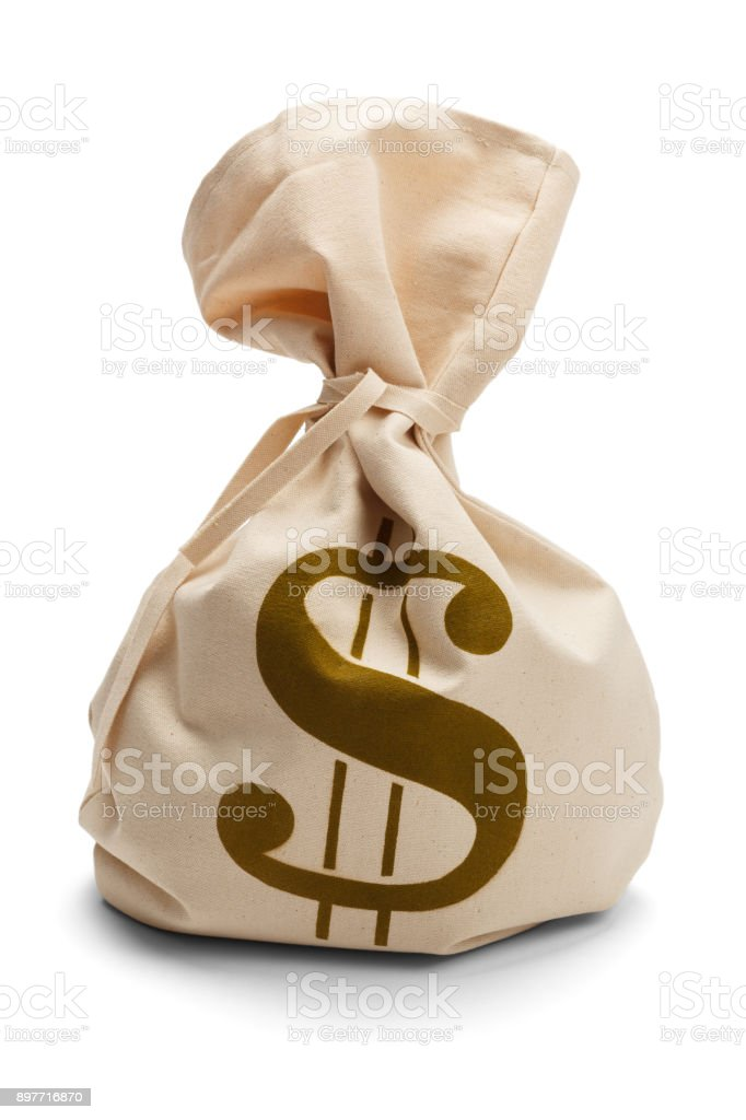 Tied Money Bag stock photo