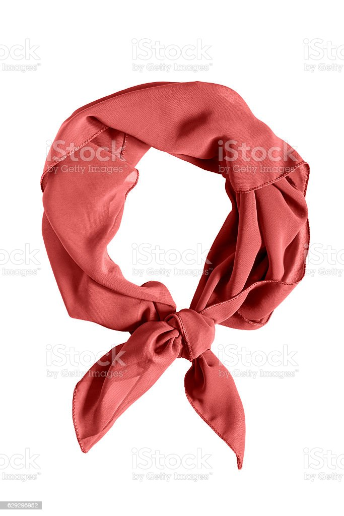 Tied neckerchief isolated stock photo