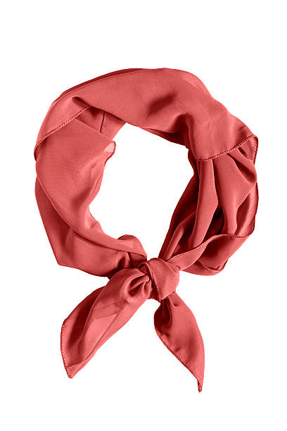 Tied neckerchief isolated Red silk tied neckerchief isolated over white headscarf stock pictures, royalty-free photos & images