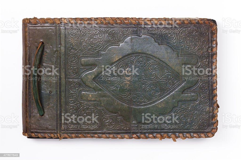 Tied Photo Album or Notebook stock photo