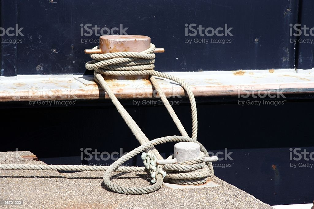 Tied to Shore royalty-free stock photo