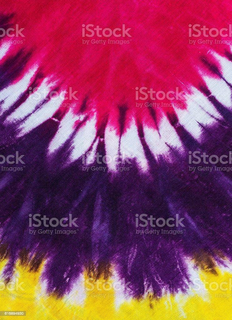 Tie-dye pattern stock photo