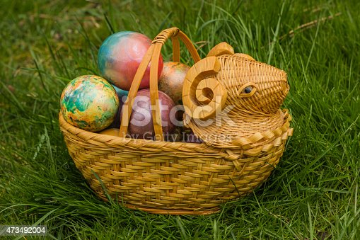 istock Tie-dyed Easter Egg 473492004