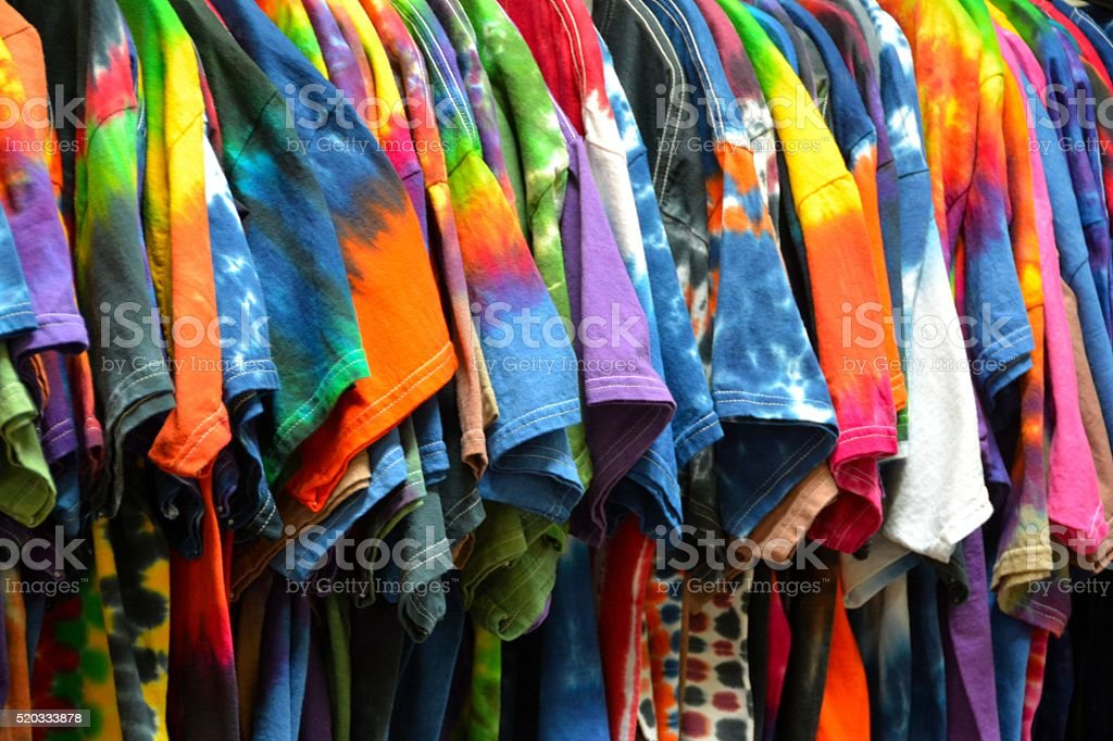 Tie-Dyed Shirts stock photo