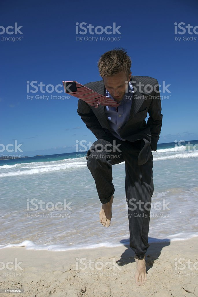 Tie-Flying Foot Stomp stock photo