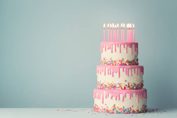 Tremendous 3 Tier Birthday Cakes Stock Photos Pictures Royalty Free Images Funny Birthday Cards Online Elaedamsfinfo