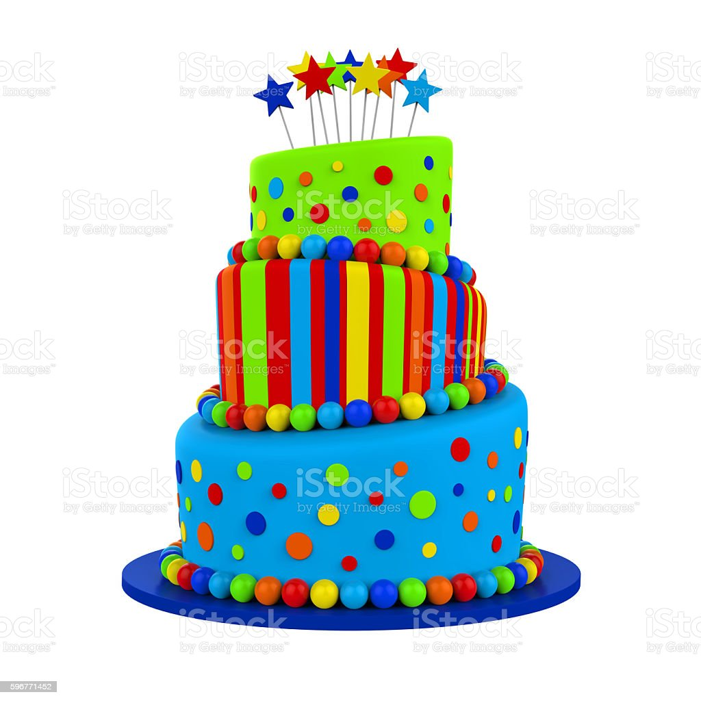 Tiered Cakes Isolated stock photo