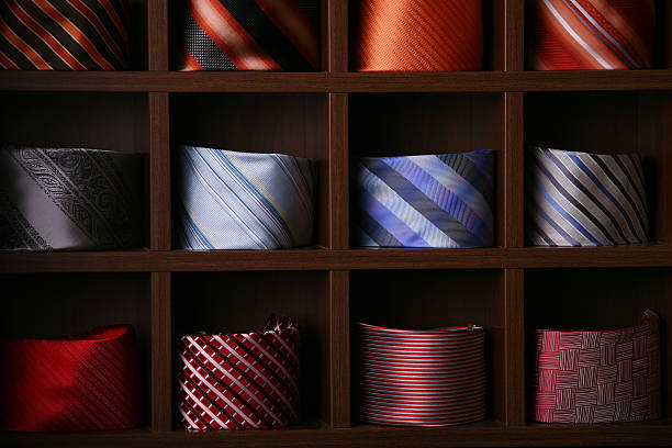 Ties in a store stock photo
