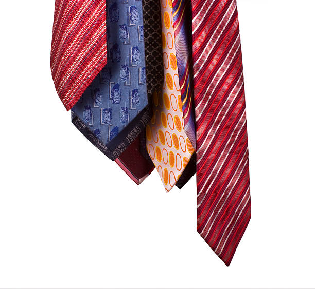Ties on the white background stock photo