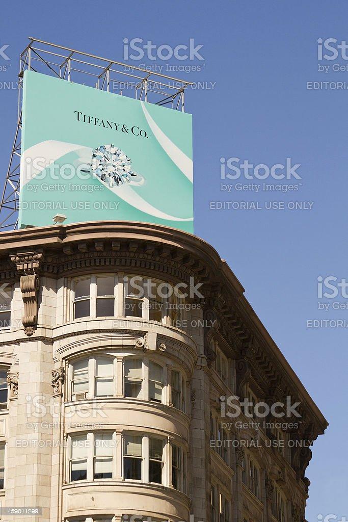 Tiffany & Co. Billboard stock photo