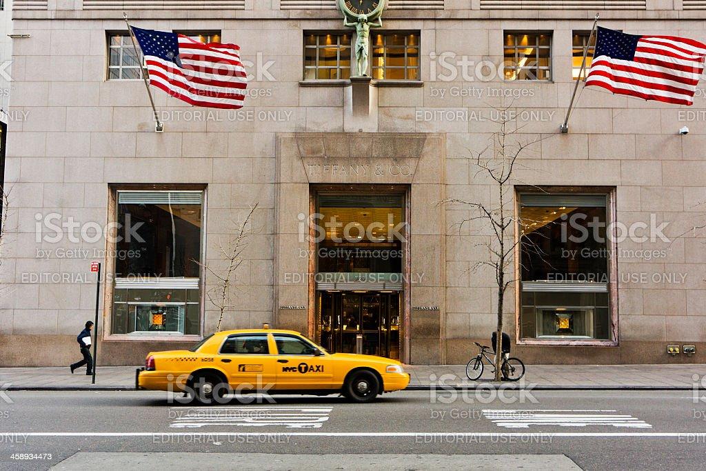 Tiffany & CO in the Fifth Avenue New York City stock photo