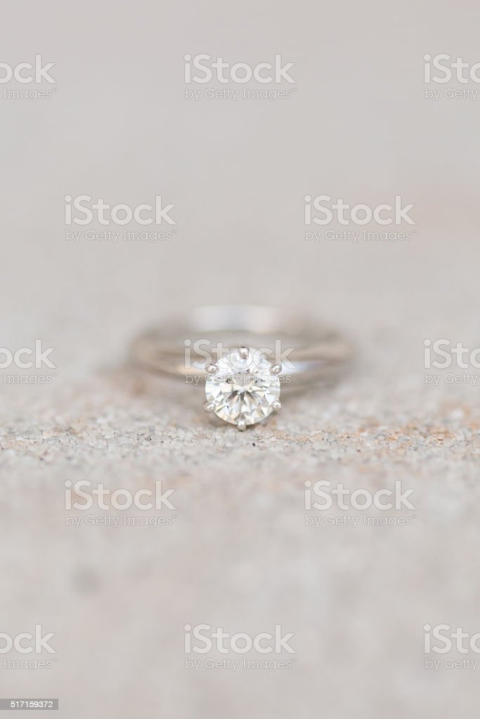 Tiffany and Co. Engagement Ring stock photo