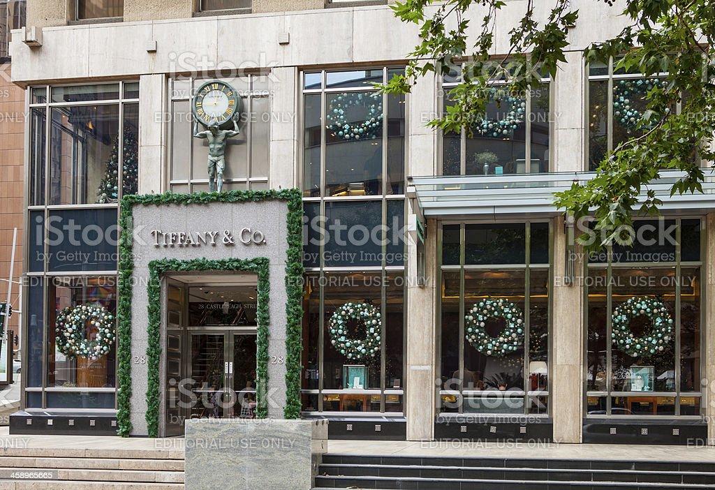 Tiffany and Co shop front. Sydney Australia. stock photo