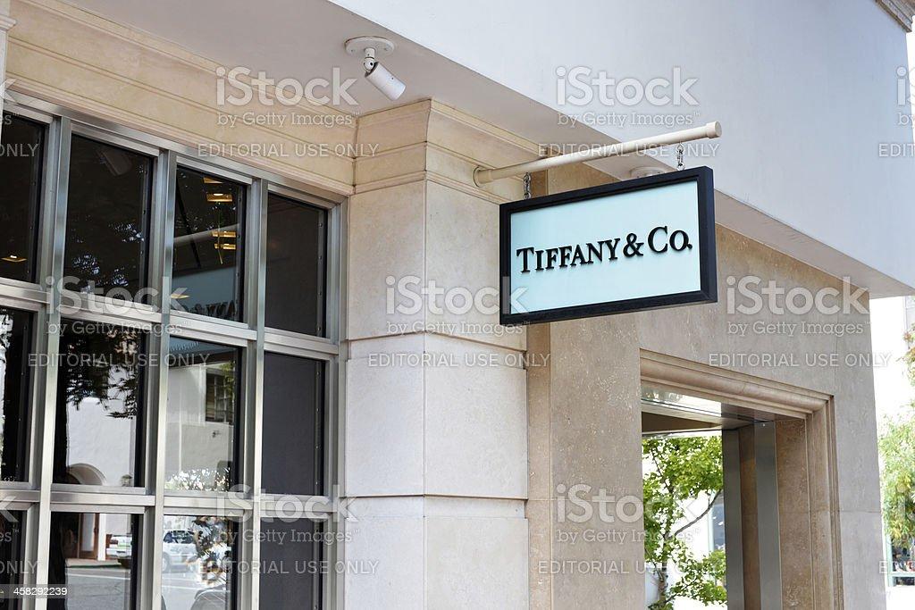 Tiffany and Co. Store in Carmel, California stock photo
