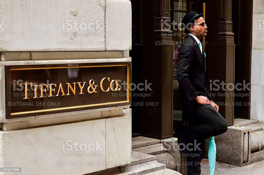 Tiffany & Co. Building on Wall Street stock photo